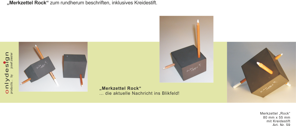 "Merkzettel ""Rock"""